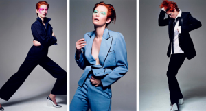 Tilda Swinton par Craig McDean - Inspiration Bowie - 2003