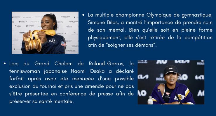 Santé mentale dans le sport avec Simone Biles et Naomi Osaka