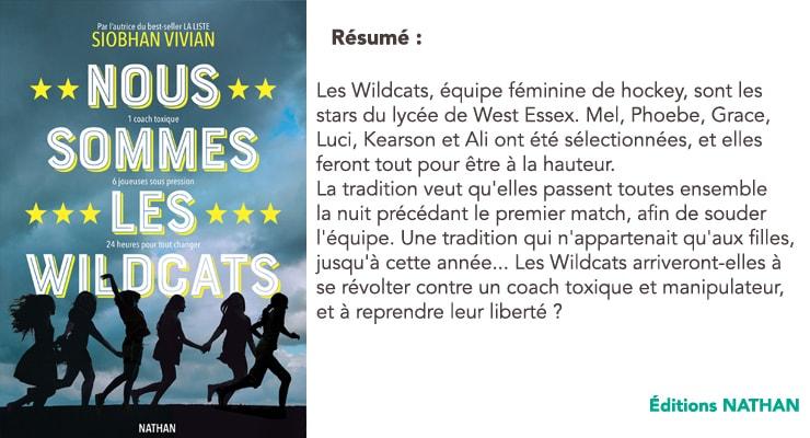 Résumé du livre Nous sommes les Wildcats de Siobhan Vivian aux éditions Nathan