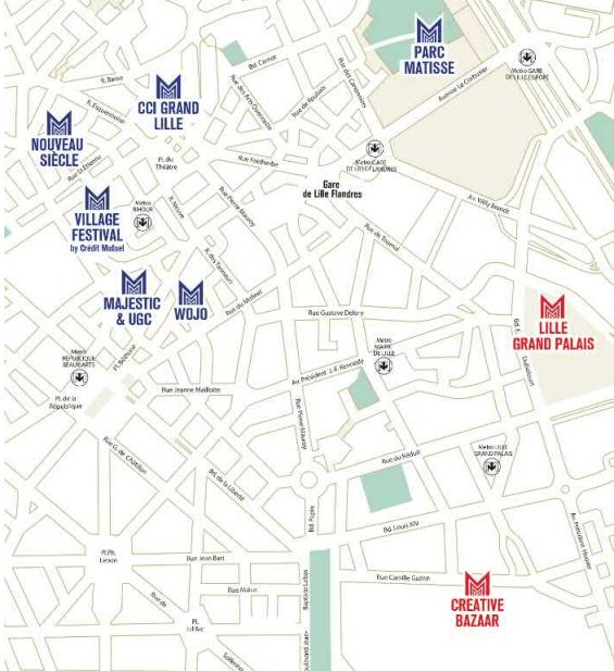 Plan des lieux du Festival Séries Mania 2021